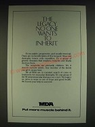 1985 MDA Muscular Dystrophy Association Ad - The legacy no one want to inherit