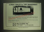 1985 Wells Cargo Ad - Great for Turf Management