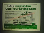 1985 Sukup Manufacturing Company Ad - Sukup Grain Handlers cuts your drying cost