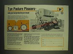 1985 Tye No Till Drill Ad - Tye pasture pleasers make your land productive year