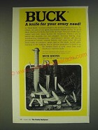 1985 Buck Knives Ad - Buck a knife for your every need