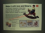 1985 Borden Elmer's Carpenter's Wood Glue Ad - Make it with love and Elmer's