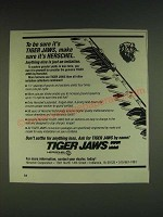 1985 Herschel Tiger Jaws Ad - To be sure it's Tiger Jaws