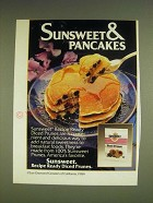 1985 Sunsweet Ready Diced Prunes Ad - Sunsweet & Pancakes