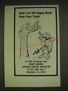 1985 American Forestry Association with Spunky Squirrel Ad