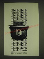 1985 U.S. Forest Service with Smokey the Bear Ad - Think Think