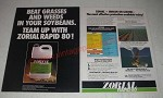 1985 Zoecon Zorial Rapid 80 Ad - Beat grasses and weeds in your soybeans
