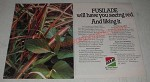 1985 ICI Americas Fusilade Herbicide Ad - Fusilade will have you seeing red.