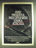 1984 AMF Head TXE Graphite Racquet Ad - Head presents a free offer with strings
