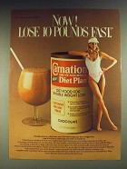 1984 Carnation Do-it-yourself Diet Plan Ad - Now! Lose 10 pounds fast