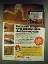 1984 Rexnord Contech PL500 Deck and Treated Lumber Adhesive Ad
