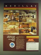 1984 Merillat Cabinets Ad - Meadow Oak/Cathedral; Omni; Ashley Oak/Cathedral