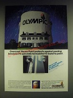 1984 Olympic Overcoat House Paint Ad - Overcoat house paint protects