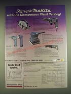 1984 Montgomery Ward Makita Power Tools Ad - Circular Saw, Drill, Sander