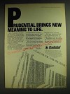 1984 Prudential Insurance Ad - Prudential brings new meaning to life