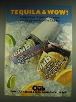 1984 The Club Jose Cuervo Tequila & Tonic and Tequila & Grapefruit Ad