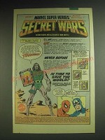1984 Mattel Secret Wars Action figures Ad