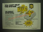 1984 Eveready Rechargeable Battery System Ad - You can't beat the system