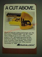 1984 McCulloch Power Mac 310 Chain Saw Ad - A cut above