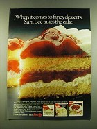 1983 Sara Lee Ad - Strawberry Shortcake, New York Cheesecake, Walnut Layer Cake