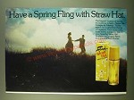 1983 Faberge Straw Hat Perfume Ad - Have a spring fling with Straw Hat