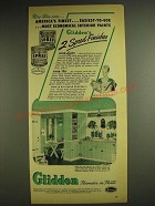 1948 Glidden Spred-Luster and Spred-Flat paint Ad - More than ever