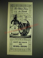 1948 Haig & Haig Scotch Ad - The oldest name in Scotch famous for 321 years