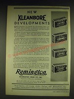 1932 Remington Kleanbore Ad - .22 Short Rim Fire, Hi-Speed, .22 Long Rifle