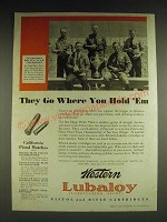 1932 Western Lubaloy Cartridges Ad - California Police Team Champions