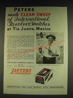 1932 Peters Rustless Ammunition Ad - C.M. Corbin - clean sweep