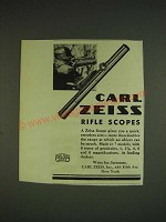 1932 Carl Zeiss Rifle Scopes Advertisement