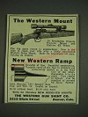 1932 Western Gun Sight Mount and Ramp Ad - The Western Mount