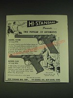 1948 Hi-Standard Model H-DM and H-B Pistols Ad