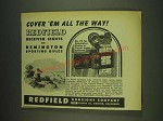 1948 Redfield No. 70 Receiver Sight Ad - Cover 'em all the way!