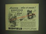 1948 Redfield No 70 LT Receiver Sight Ad - Accuracy… when it counts!