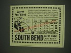 1948 South Bend Lathe Works Turret Tool Block Ad