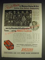 1933 Peters Outdoor Tackhole Ammunition Ad - Glendale Rifle & Revolver Club