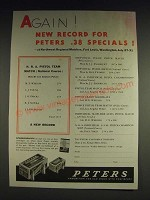 1933 Peters .38 Special Ammunition Ad - Again! New record for Peters .38