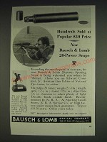 1933 Bausch & Lomb Spotting Scope Ad - Hundreds sold at popular $30 price