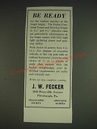 1933 J.W. Fecker Combined Target and Spotting Scopes Ad - Be Ready