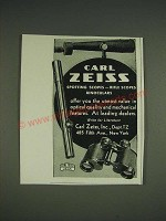 1933 Carl Zeiss Spotting Scopes, Rifle Scopes and Binoculars Ad
