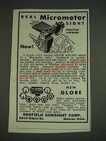 1933 Redfield Micrometer Sight Ad - Real Micrometer sight positive locking
