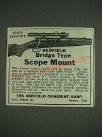 1933 Redfield Bridge Type Scope Mount Ad - Quick sighting