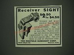 1933 Redfield Receiver Sight Ad - Receiver Sight $2.50 to $4.50