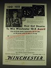 1934 Winchester Model 52 Match Rifle and Precision Cartridges Ad