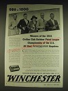 1934 Winchester Staynless Ammunition Ad - the Liberty Rifle and Pistol Club