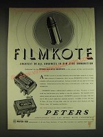1934 Peters Rustless and High Velocity Filmkote Ammunition Ad