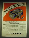1934 Peters Wimbledon Match .22 Long Rifle Ammunition Ad