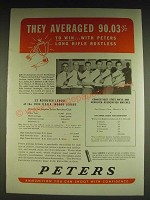 1934 Peters Ammunition Ad - They averaged 90.03% to win