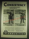 1934 US Ammunition Ad - Capt. F.F. Campbell and Sgt. Lawrence Cook